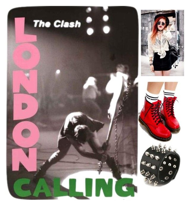 """""""London Calling"""" by polaroidandfashion ❤ liked on Polyvore featuring Dr. Martens"""
