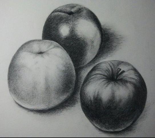 Dibujos Sombreados A Lapiz Faciles De Frutas Imagui Luces Y