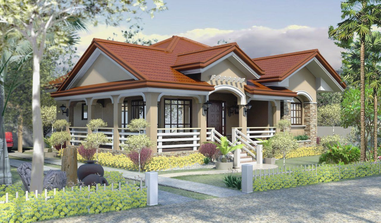 This is a 3 bedroom house plan that can fit in a lot with an area