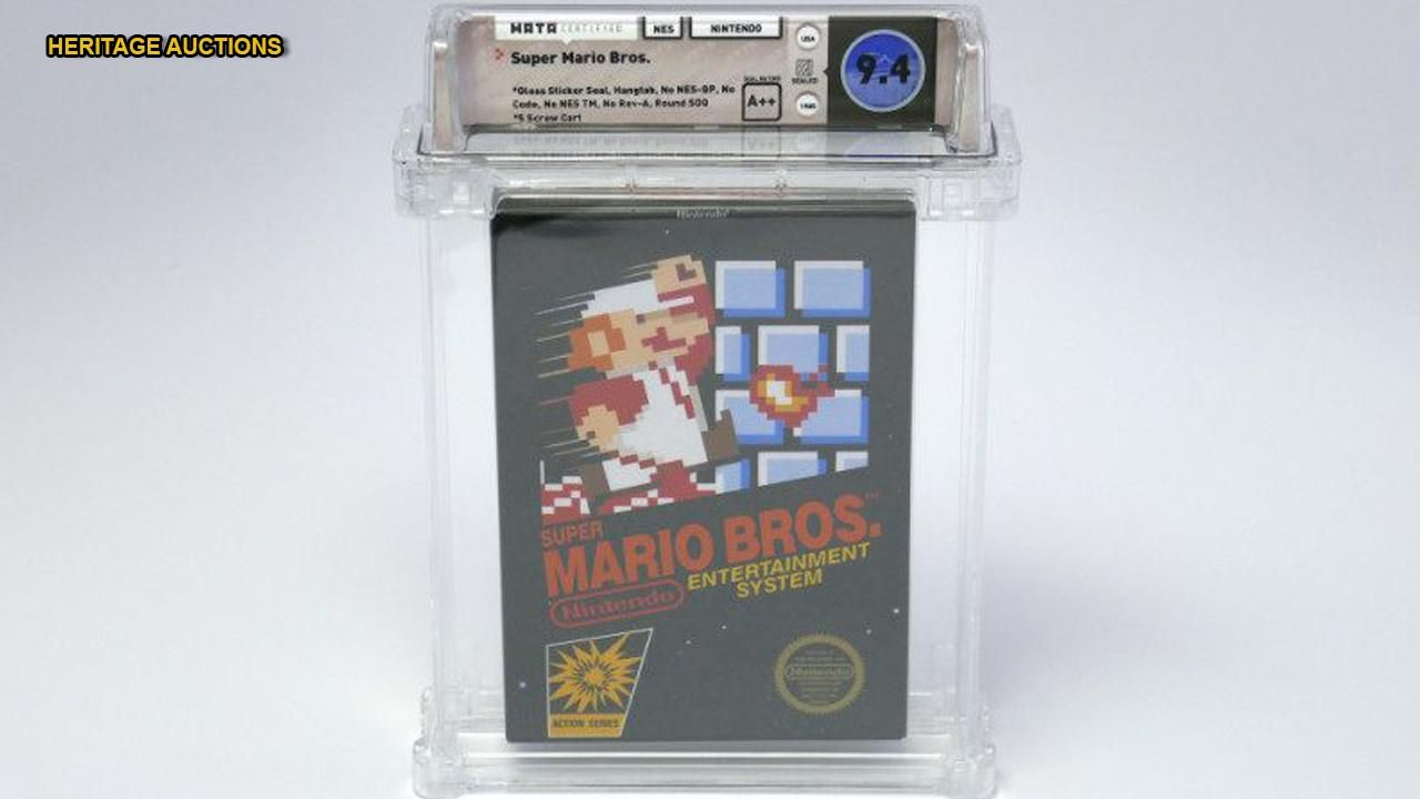 Unopened Vintage Super Mario Bros Video Game Sells For 100g Setting New World Record Mario Bros Super Mario Bros Super Mario
