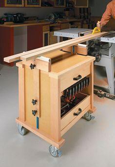 Roll Around Shop Cart Woodsmith Plans Workshop Storage