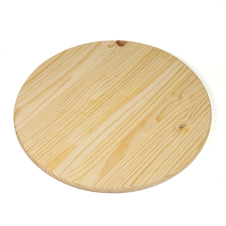 Unfinished Pine Round 48 For Table Top Or Sign Etsy Handmade Clocks Table Top Large Centerpiece