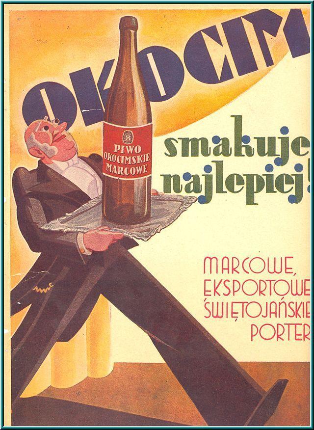Przedwojenna Reklama Piwa Okocim Szemrana Ferajna Piwo