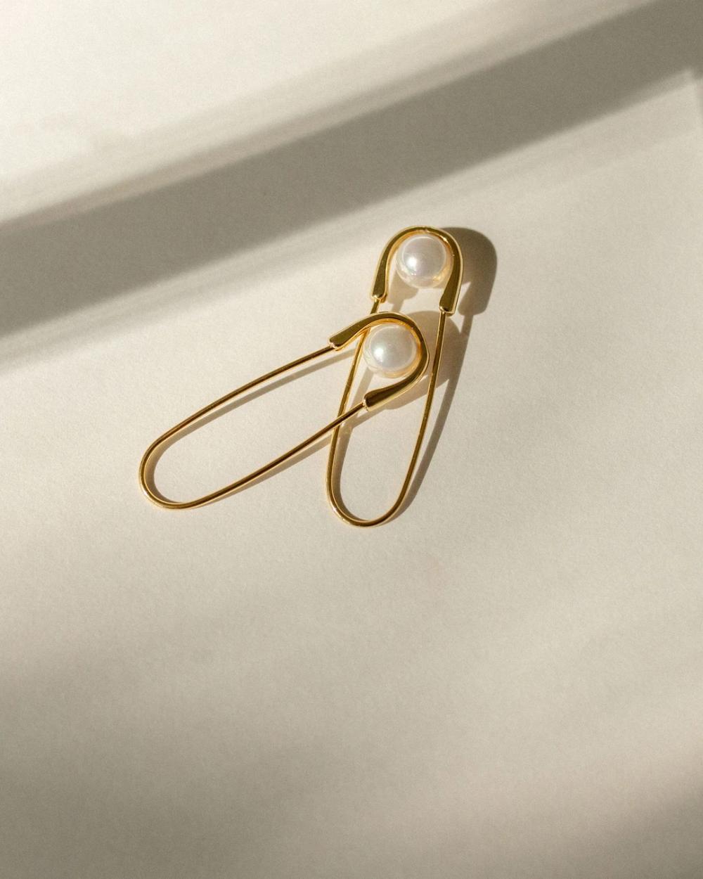 Safety Pin Earrings in 2020 Safety pin earrings, Black