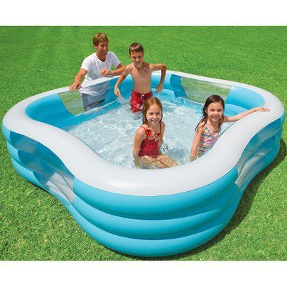 Intex Square Family Swimming Pool Opens In A New Window Kid Pool Toys Pinterest Swimming