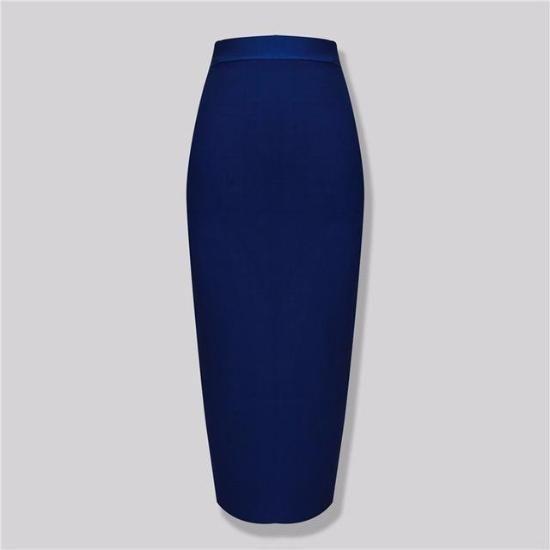 Knee Length Bandage Skirt Knitted Elastic Sweet Designer