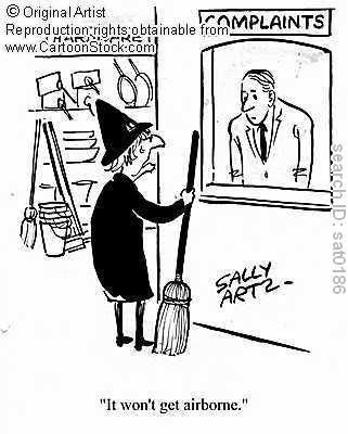 A witch in the complaints dept