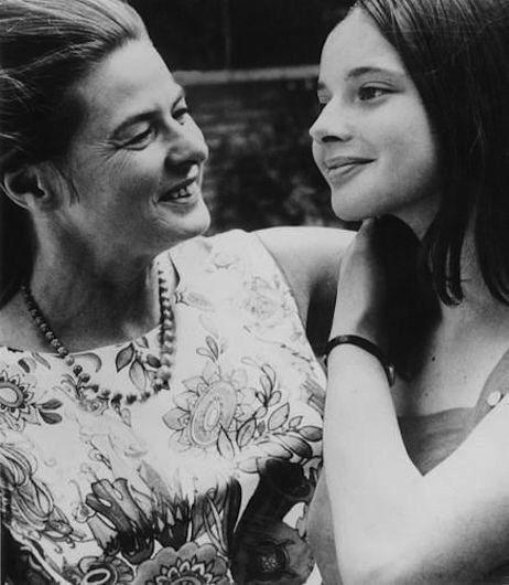 Ingrid Bergman gazing at her daughter, Isabella Rossellini
