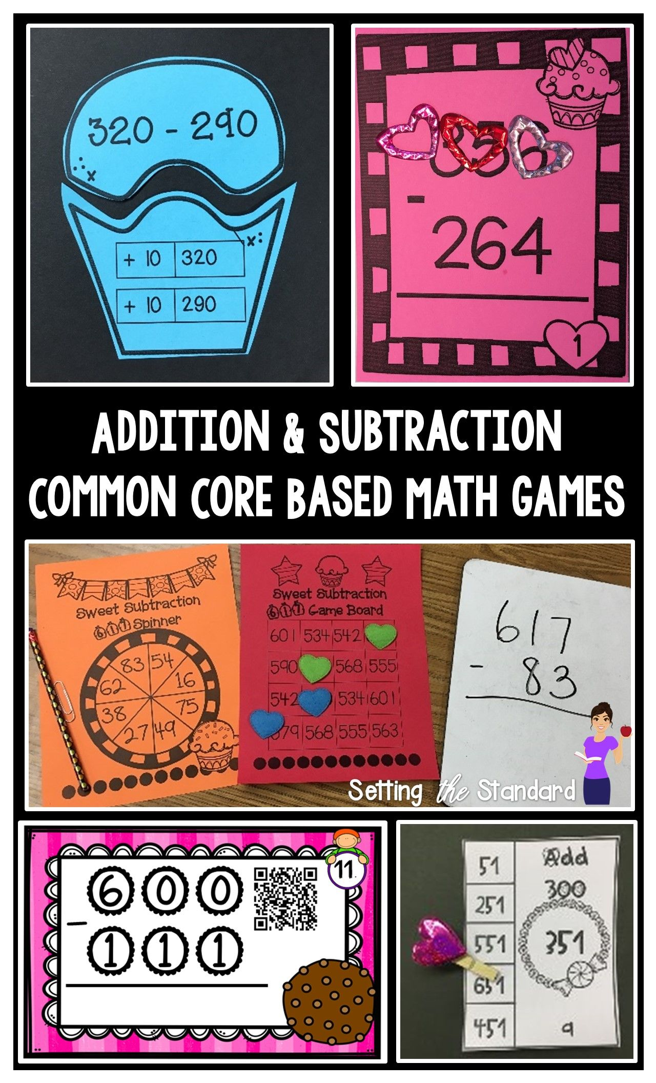 Addition And Subtraction Games Double And Triple Digit