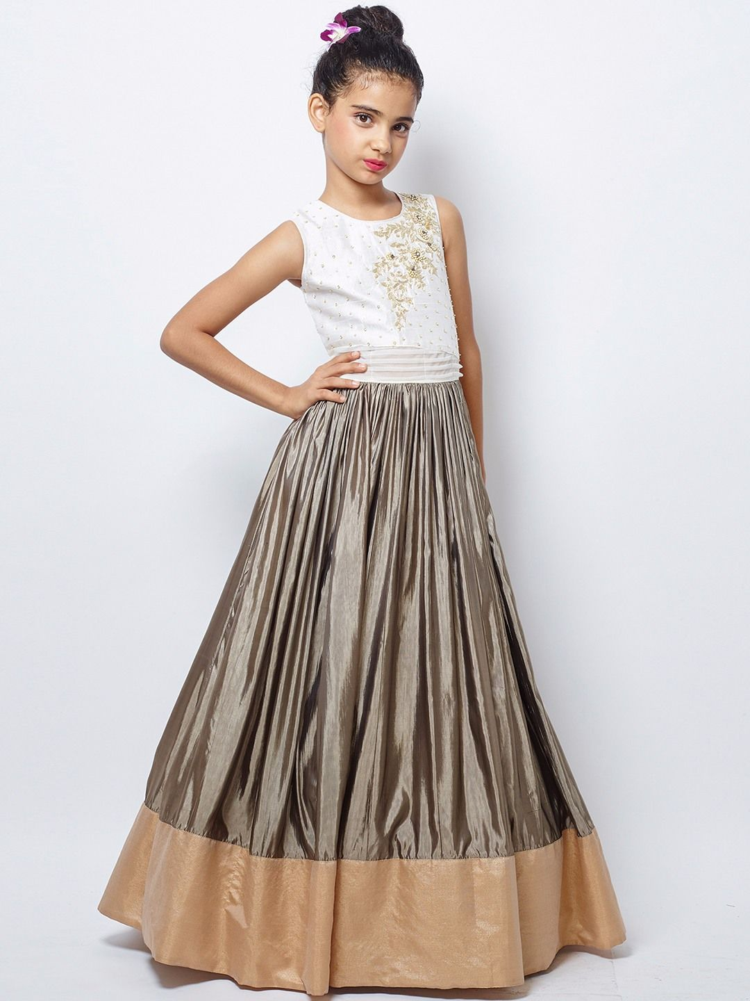 Silk Grey Party Wear Amazing Gown Price And Queries Whatsapp 91