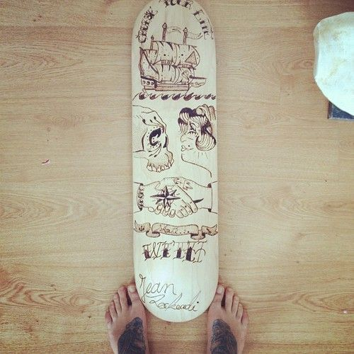 Cruiser tattoos style #tattoos #pirate #board