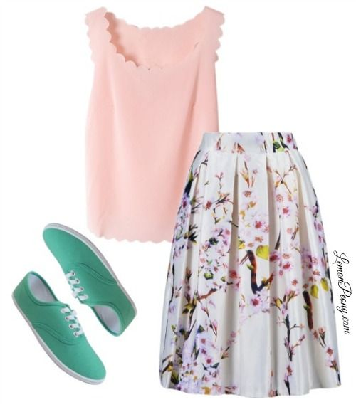 Cheap Canvas Shoes | Colored Sneakers for Spring and Summer! This skirt is only $15.99!! Love it!