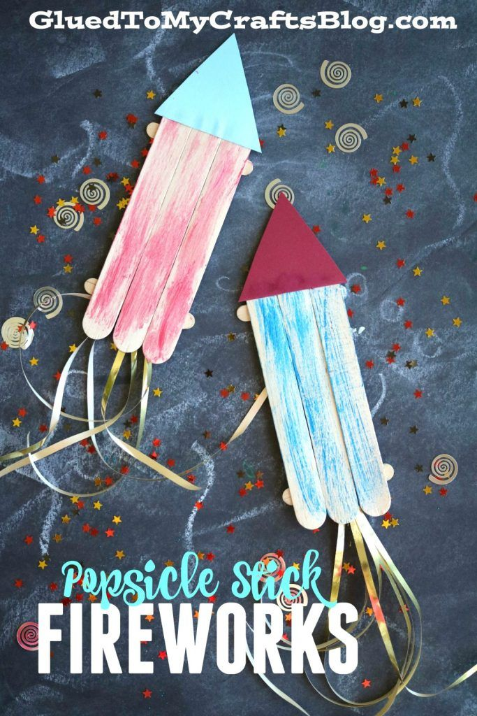 Photo of Popsicle Stick Fireworks – Kid Craft Idea For 4th of July Celebrations!
