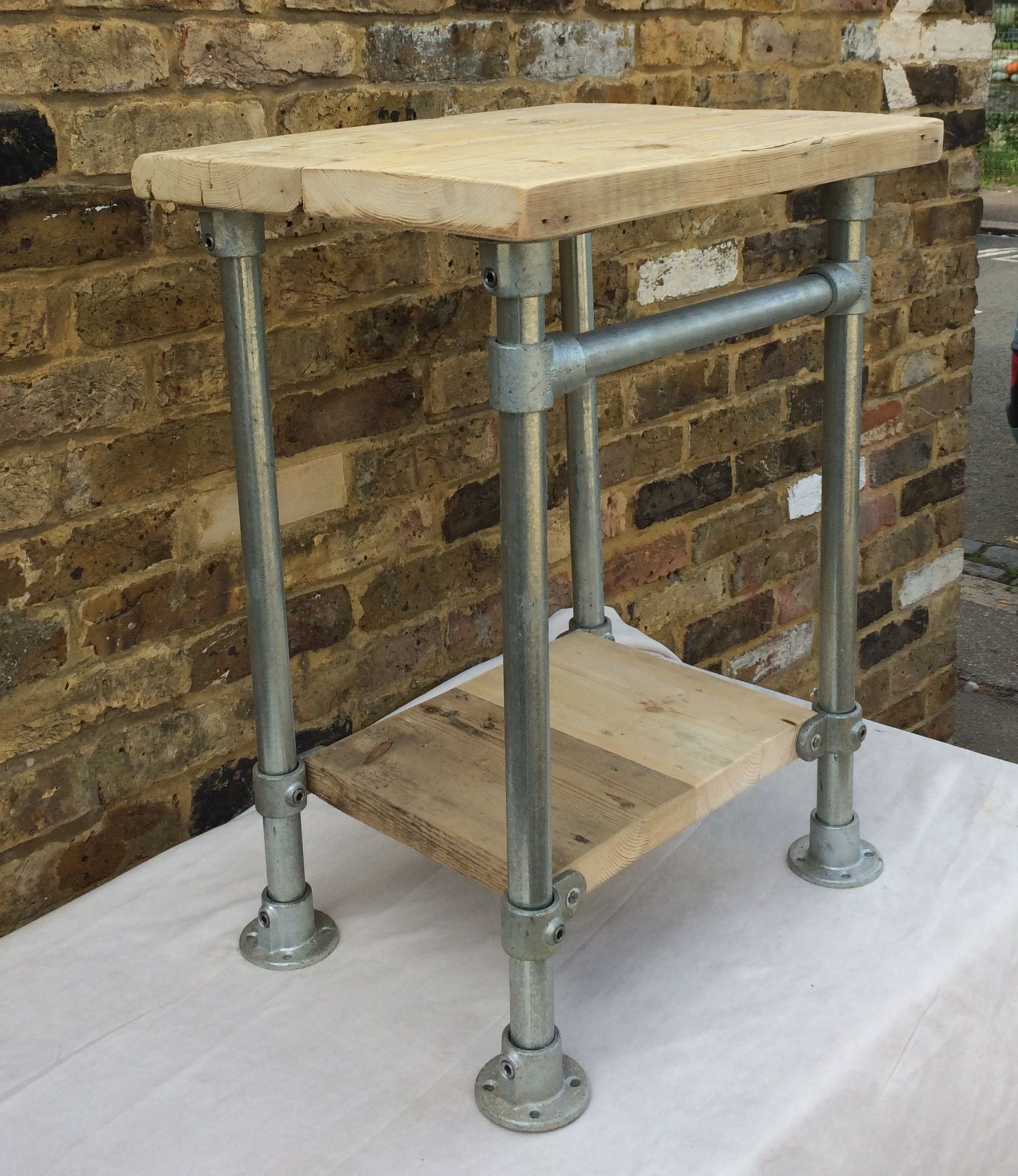 Bathroom Sink Vanity Unit Made From Reclaimed Scaffold Board And