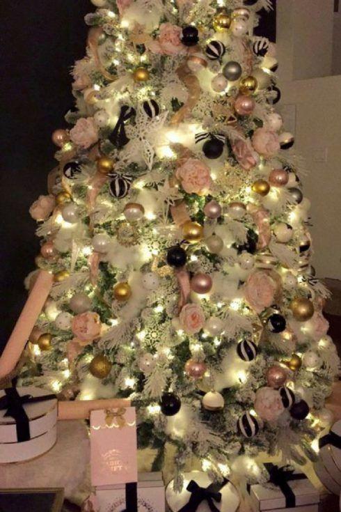 Christmas Living Room Makeover Homegoods Glam Christmas Christmas Tree Inspiration Pink Christmas Tree