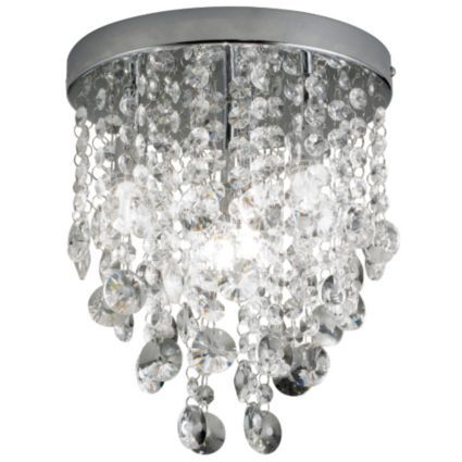 Glimmer crystal droplets chrome effect 4 lamp ceiling light departments diy at bq