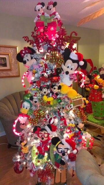 A mickey and minnie disney christmas manualidades for Adornos navidenos mickey mouse