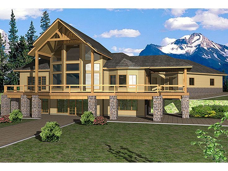 012H-0178: Mountain House Plan with Northwestern Details ...