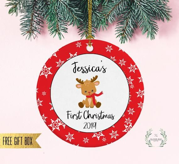 Baby's First Christmas Ornament, New Mom Gift, Baby Girl ...