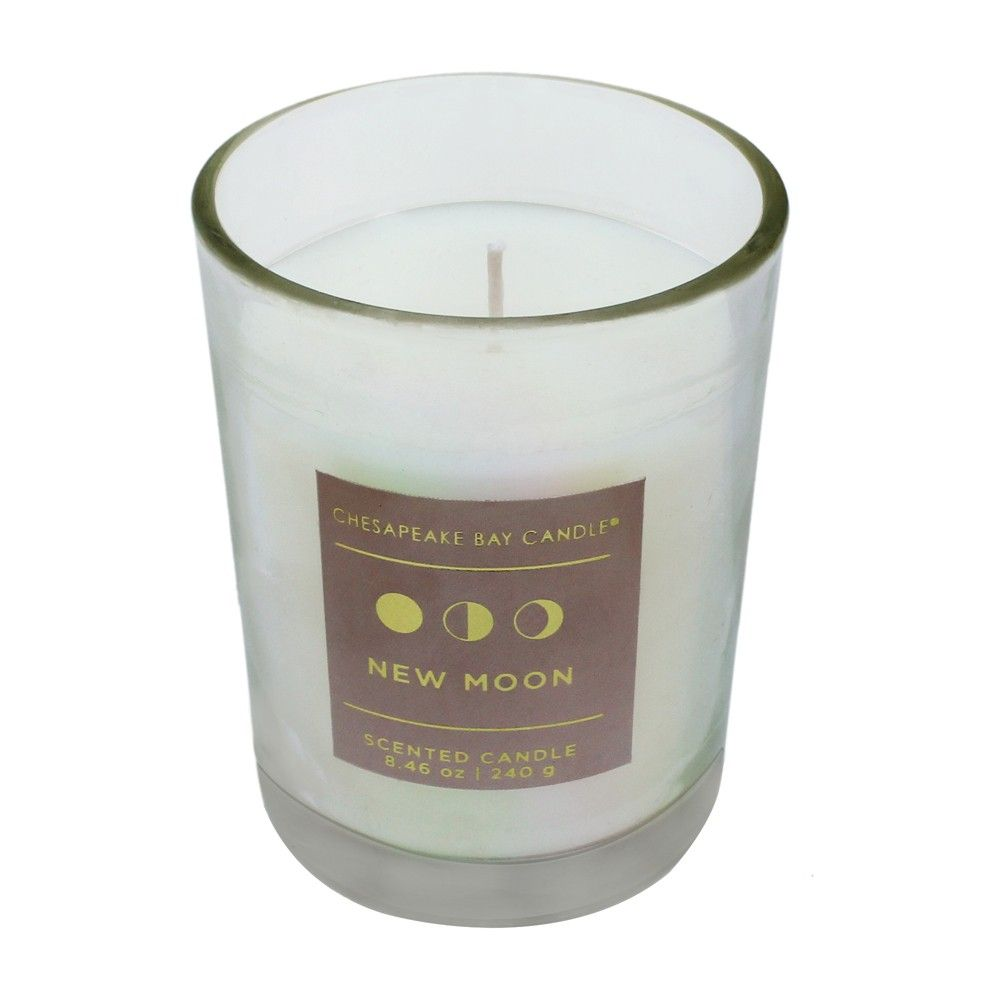 8 46oz Pearlized Glass Container Candle New Moon Chesapeake Bay Candle White Chesapeake Bay Candles Candle Containers Glass Containers