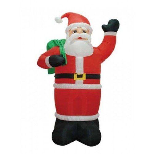 BZB Goods 8\u0027 Christmas Inflatable Santa Claus Holding Gift Bag
