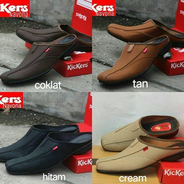 Jual Sepatu Sandal Kulit Branded Kickers Slop Sandal Kulit