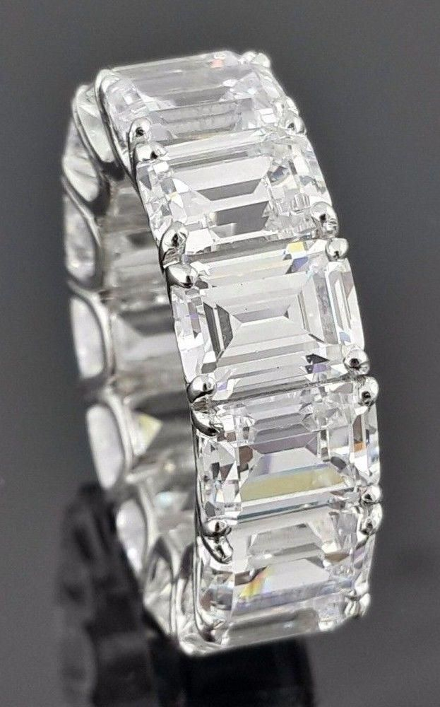 490c80b47 The Ingrid, A Museum Perfect 15TCW Emerald Cut Russian Lab Diamond ...