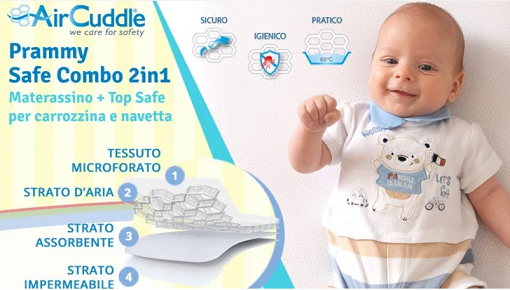 Diventa Tester Prammy Safe Combo 2in1 AirCuddle con ConsoBaby