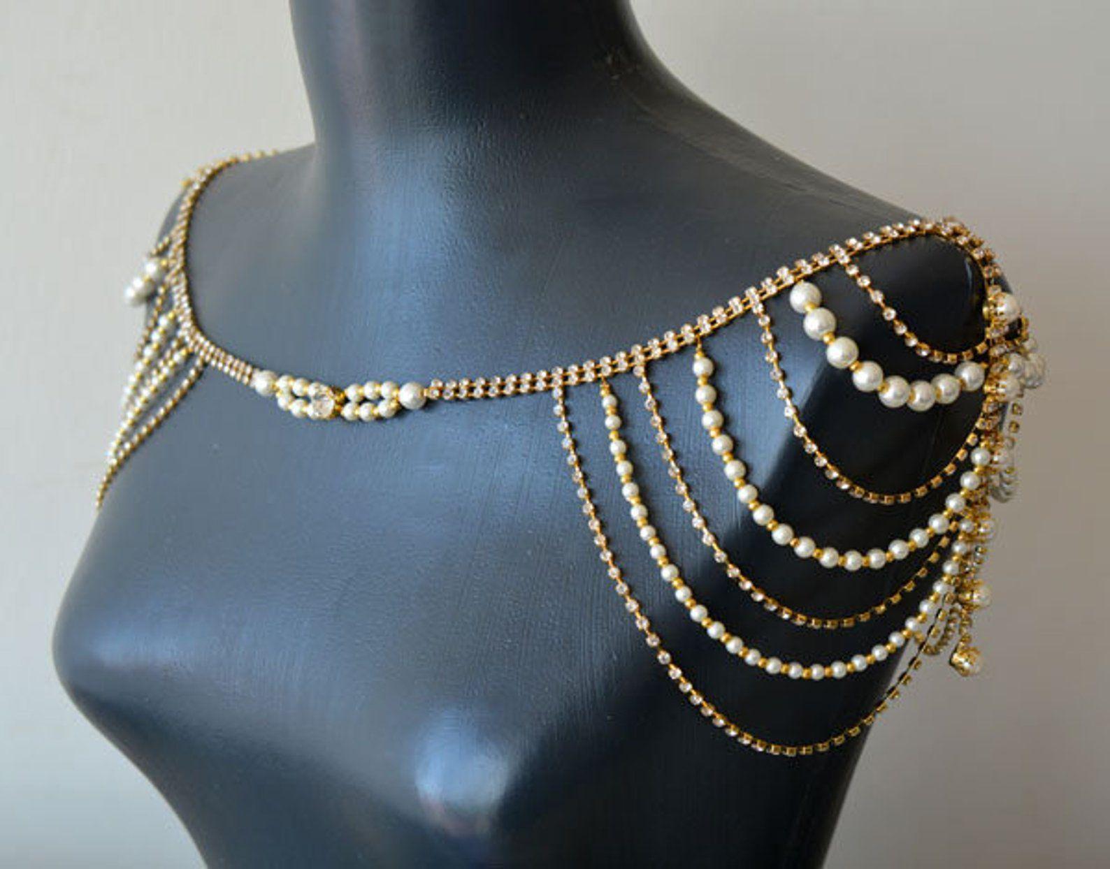 Shoulder Necklace Wedding Shoulder Jewelry Wedding Dress
