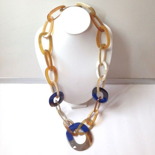 n0762_N0762 Nature Organic Buffalo/Cow Horn Necklace Handmade Craft Fashion Jewelry ...