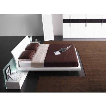 Aron Modern White Platform Bed Beds Bedroom Modern Bedroom Design Contemporary Bed Modern Bedroom