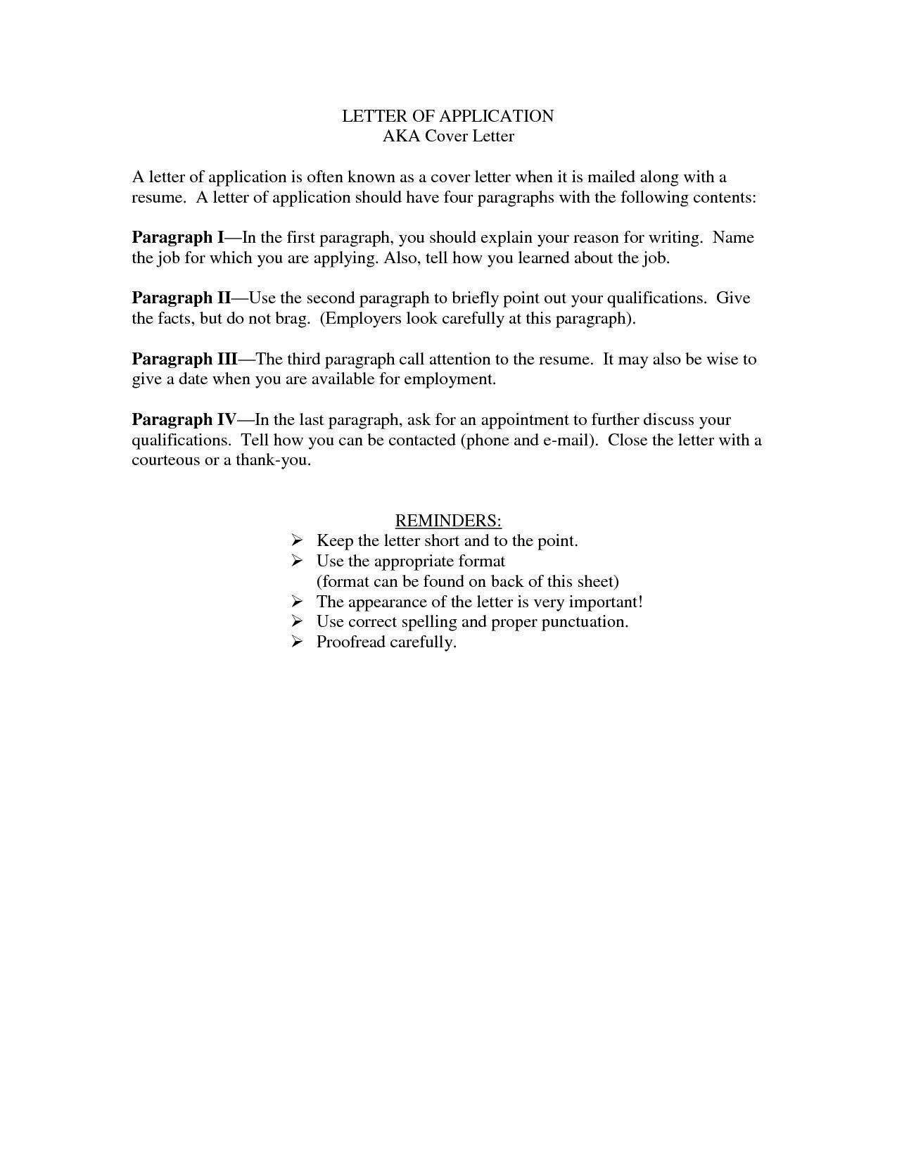 23 Short Cover Letter Application Resume Badak