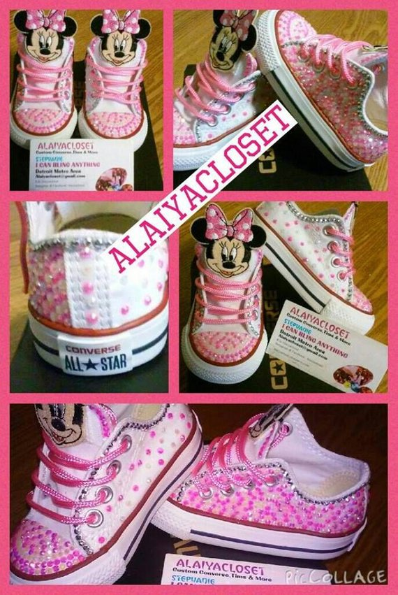 984294dd9187 Infant Minnie Mouse Converse in 2019