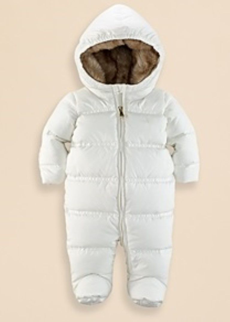 923ef0845 Ralph Lauren Baby Infant Girls  Channel Quilted Snowsuit - Sizes 6 ...