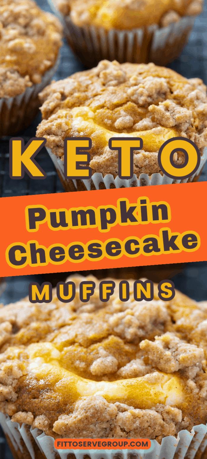 Keto Pumpkin Cheesecake Muffins These keto pumpkin
