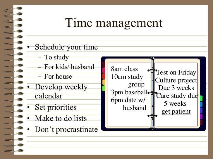 Time management and study skills