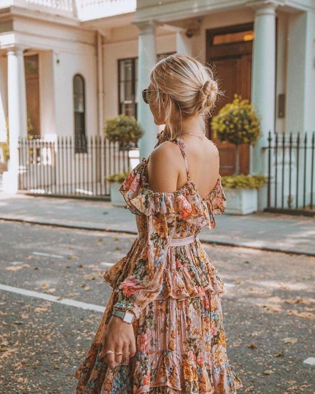 41 Fancy Summer Dresses Ideas For Romantic Dinner Maxi Kleider Sommer Kleider Boho Kleid [ 1280 x 1024 Pixel ]