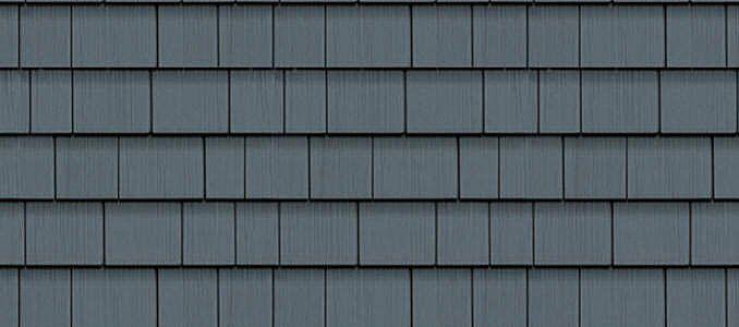 Cedar Impressions Double 7 Straight Edge Perfection Shingles Pacific Blue Shingle Siding House Exterior Blue Vinyl Siding House