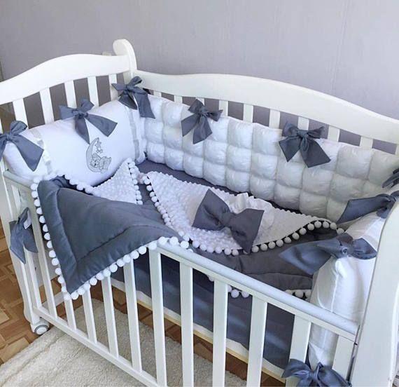Crib Bumpers Baby Bedding Set baby cot bumper Handmade   бортики ...
