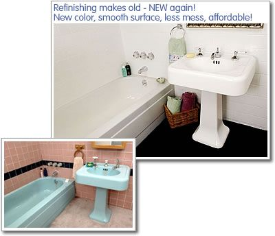 Bathtub Refinishing U2013 Bathroom Tub Refinishing U2013 Miracle Method       OH!  If Only I Could Do This With My Gawd Awful ORANGE Tub And Toilet!