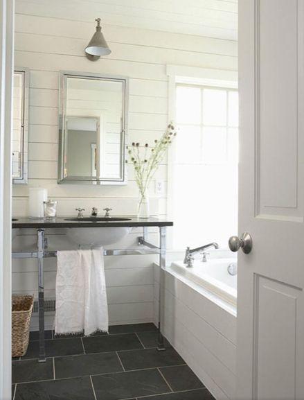Bath Ideas · Dark Floor ...