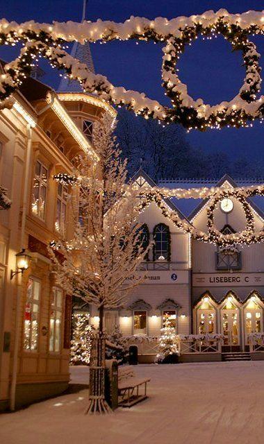 Christmas In Sweden.Liseberg During Christmas Gothenburg Sweden Christmas
