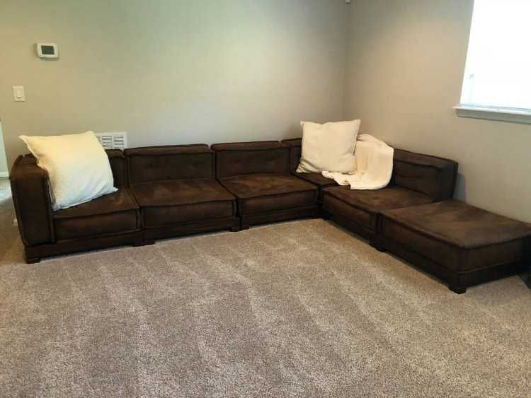 pb teen brown couch comes in separate pieces and can be rh pinterest com