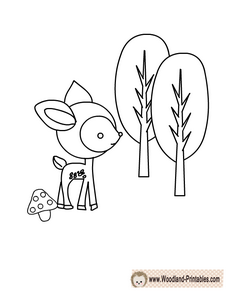 Free Printable Woodland Deer Coloring Page Deer Coloring Pages Animal Coloring Pages Coloring Pages
