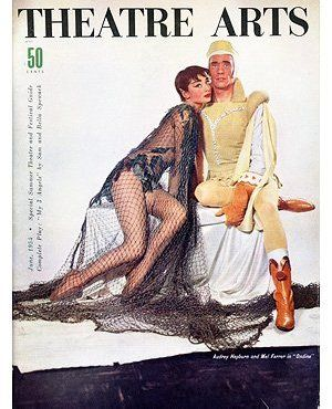 Theatre Arts magazine cover featuring Audrey and co-star Mel Ferrer in Ondine. Audrey Hepburn Estate Collection.