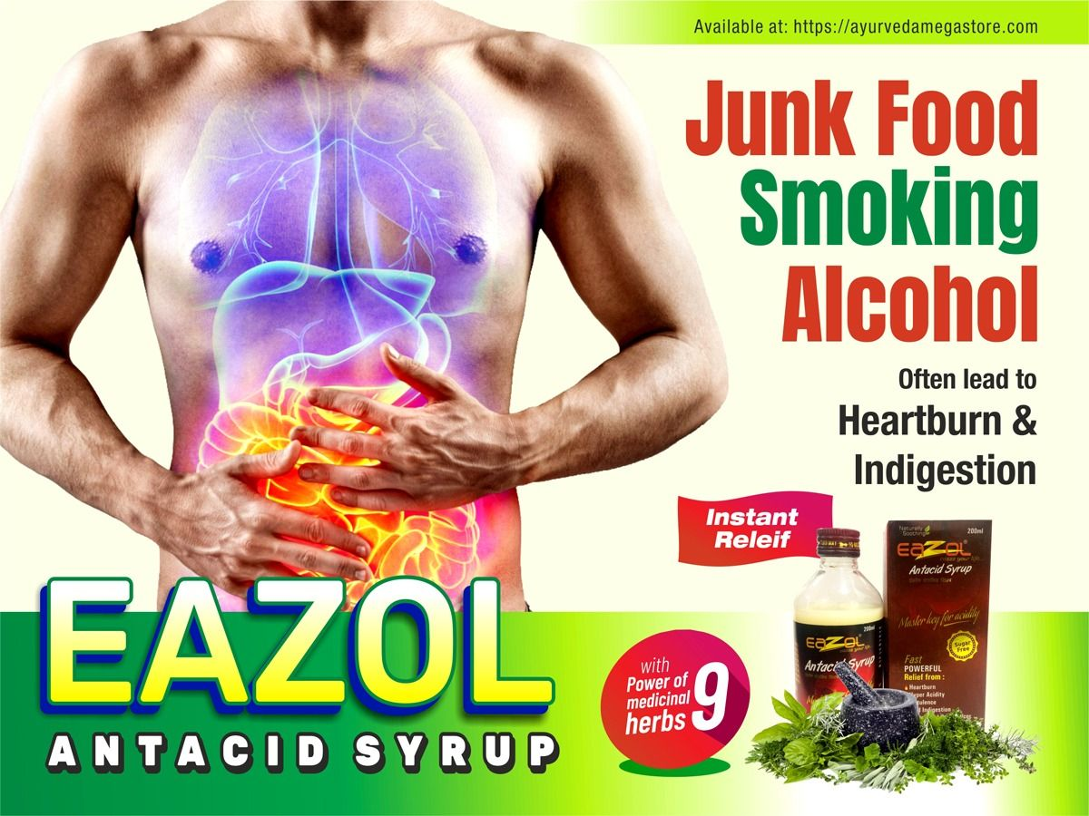 Instant Relief From Heartburn Indigestion Buy Eazol Antacid