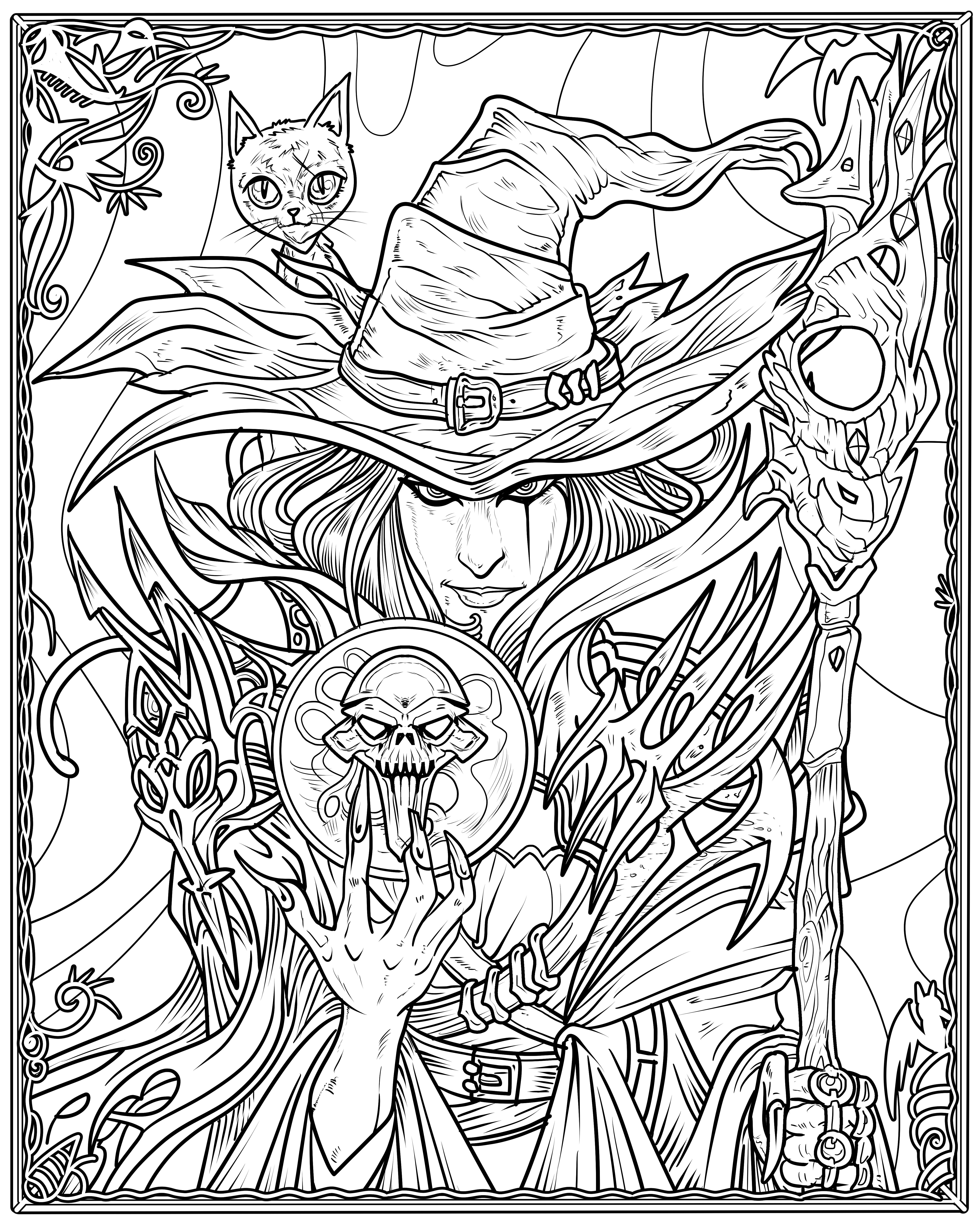 Witch Coloring Page Witch Coloring Pages Animal Coloring Pages