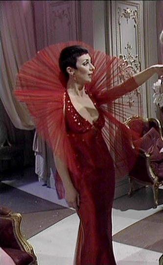 Image result for servalan red dress