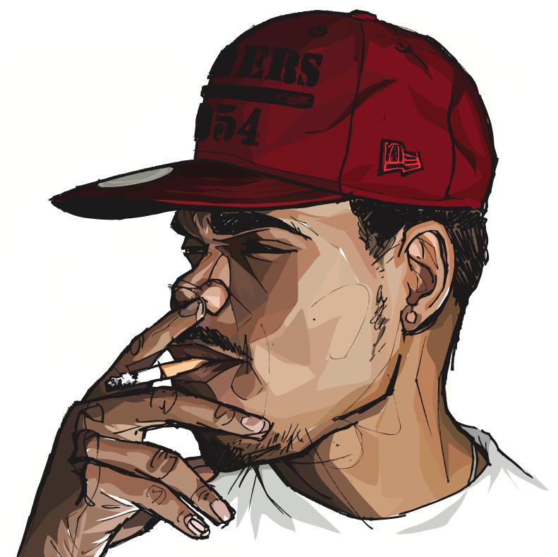 Http Willprinceart Tumblr Com Image 48075002756 Chance The Rapper Smoke Art Trill Art