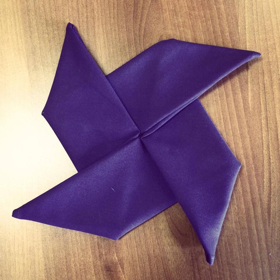 Pinwheel Napkin Fold | Napkin Folds | Pinterest | Napkins